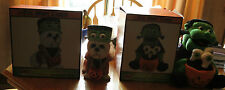 NEW HALLOWEEN I WANT CANDY MONSTER WITH EYEBALLS YORKEE MONSTER DOG STATUE