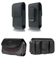 Leather Pouch Holster Clip that fits with Hard / Silicone / Snap On / Case on it