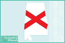 ALABAMA SHAPED STATE FLAG Vinyl Decal Car Truck Window Sticker CUSTOM SIZES!