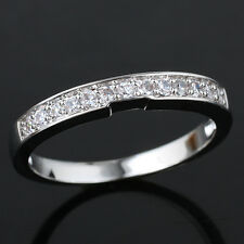 Women Right Finger 925 Sterling Silver Band Ring Sz Wedding Anniversary Gift