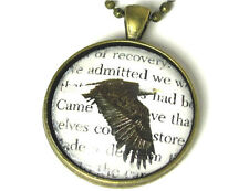 NEW 12-Step Recovery Necklace Alcoholics Anonymous AA Big Book Text with Eagle