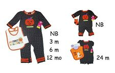 HALLOWEEN COVERALL BIB SOCKS OKIE DOKIE LITTLE PUMPKIN CARTERS BABY GIRLS