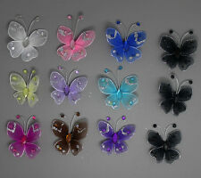 25pc Nylon Stocking Butterfly Wedding Decoration 3.5cm Free Shipping