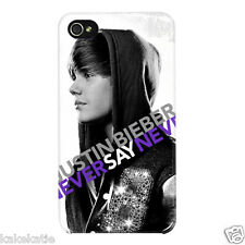 Justin Bieber iphone 5s hard back plastic white case skin cover for i phone 5