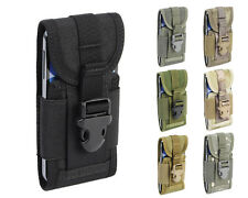 Tactical Military Molle 1000D Middle Size Smart Cellphone Pouch Bag 7 Colors BK