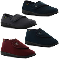 New Mens Comfy Practical Dunlop Velcro Slippers Warm Indoor Shoes Sizes UK 6-12