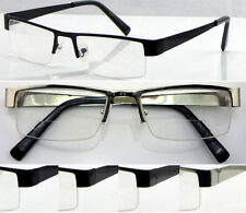 R417 Metal Semi-Rimless Bifocal Lenses Reading Glasses+75+1.+100+2.+200+225+2.25