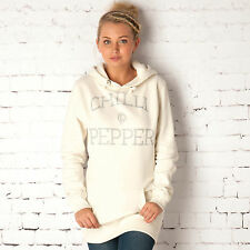 Chilli Pepper Womens Longline Hoody In Cream From Get The Label