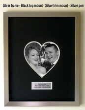 Personalised 'HEART' Wedding Guest Book Frame – With Free Pen