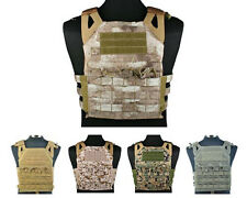 Airsoft Tactical Military Paintball Molle Plate Carrier JPC Vest 8 Colors Black