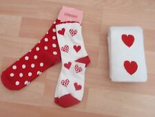 NWT GIRLS GYMBOREE TIGHTS, SOCKS SZ 6-12 MONTHS, 3-4 VALENTINES