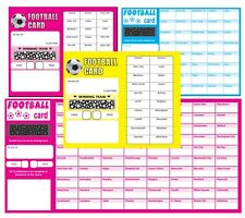 FOOTBALL SCRATCH CARDS, fundraising, team cards,  scratch panel cards, free p&p