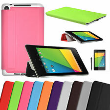 Latest 2013 Google 2nd Gen FHD New Nexus 7 Tablet Leather Case Slim Smart Cover