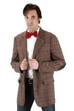 Dr. WHO 11th Doctor Matt Smith Costume Brown Plaid Tweed Sports Jacket