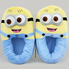 Despicable Me Minion Jorge Monsters Cosplay Adult Lady Slippers Plush Toy Shoes