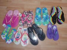 NWT GIRLS JUSTICE SZ  4-5, 8-9, 2-3 SHOES FLIP FLOPS U PICK!!