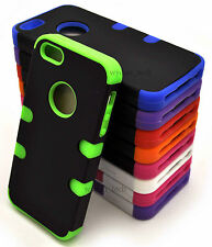 For Apple iPhone 5 5S Rounded Tuff Hybrid Hard Soft Snap On Cover Accessory w SP