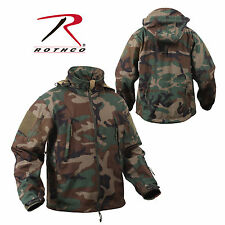 SPECIAL OPS TACTICAL US MILITARY ARMY WOODLAND FOREST CAMO SOFTSHELL JACKET COAT