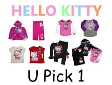 HELLO KITTY SHIRT PANTS BOTTOM CAT TOP GIRLS CHILDRENS CLOTHES KID YOUTH SANRIO
