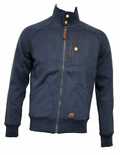 Mens Duck And Cover Jackson Navy Zipped Jacket