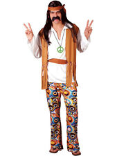 Adult Gents Large Woodstock Hippie 60s 70s Hippy Fancy Dress Costume BN