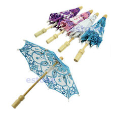 HOT Embroidered Lace Parasol Umbrella For Bridal Wedding Party Decoration