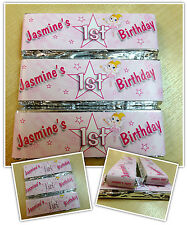 Personalised Chocolate First Birthday Party Favours - Wrappers or Pre-made N10