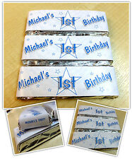Personalised Chocolate First Birthday Party Favours - Wrappers or Pre-made N11