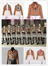 Attcak on Titan Shingeki no Kyojin Legion Cosplay Costume Coat/Jacket 6 size