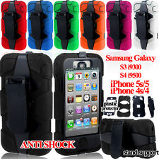 Heavy Duty Builders Military Tested Stand Rugged Case Cover Anti Shock Proof