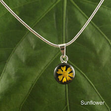 Sterling Silver Round Floral Pendant (Mexico)