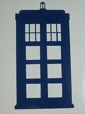 "Dr Who Police Box Tardis Vinyl Decal Car Window Laptop 6"" tall 75028"