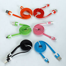 Flat Data Cable Charger for Samsung Note3 N9000 Moto X HTC One Mini LG g2 Z30