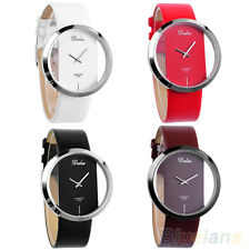 Ladys Womens Colorful Leather Transparent Dial U Pick Succinct Sport Watch BD4U