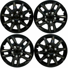 "4 X BLACK UNIVERSAL CAR VAN WHEEL TRIMS COVERS HUB CAPS SET 13"" 14"" 15"" NEW 4PCS"