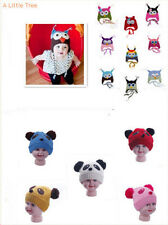 New Cute Kids Baby Girl Boy Knitted Beanie Wooly Warm Crochet Owl Panda Hats Cap