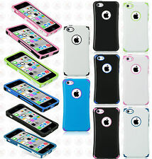 For Apple iPhone 5C HARD Hybrid Fusion Hard Rubber Silicone Case Phone Cover