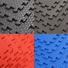 24 Sq Ft EVA Foam Floor Mat Interlocking Exercise Gym Flooring 6pcs Each