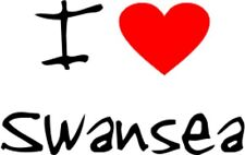 I Love Heart Swansea Removable Wall Art Decal