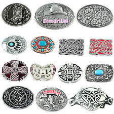 Celtic Floral Flower Scroll Tribal Tattoo Cross Round Mens Buckle Leather Belt