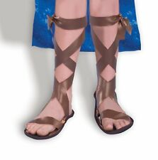 Roman Spartan Toddler Child Sandals Shoes Trojan Gladiator Costume Accessory NEW