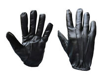 MENS LEATHER POLICE STYLE SEARCH DRIVING GLOVES UNLINED NEW ALL SIZES