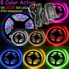 5M 5050/3528 SMD 300 LEDs Light Waterproof Flexible Strip Lighting/12V 5A Power