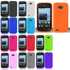 For Straight Talk ZTE Savvy Z750C Rubber SILICONE Soft Gel Skin Case Phone Cover