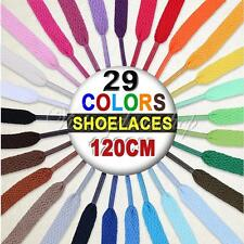 Flat Coloured Shoe Laces Bootlaces Trainers Skate Strong Shoelaces 29 Colours