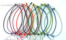 """variations color 10pcs silk thread knot cord chain pendant necklace 18"""""""