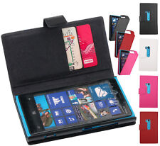 Genuine Leather Case Flip Folio Wallet Cover Skin Protector For Nokia Lumia 920
