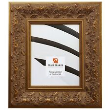 "Craig Frames Asian, 3.5"" Gold Wood Picture Frame, Custom Sizes"