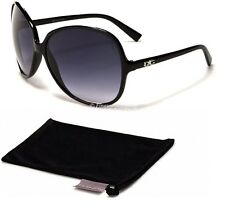 DG Designer Ladies Womens Girls Vintage Large Black Fashion Sunglasses New G485