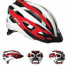 NEW ARINA CORSE PRO CYCLE HELMET - ADULT WHITE / RED - ROAD MTB BICYCLE CYCLING